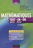 Claude Deschamps et André Warusfel - Tout-en-Un Mathématiques MPSI-PCSI.