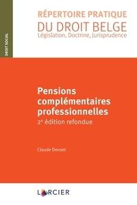 Claude Devoet - Pensions complémentaires professionnelles.