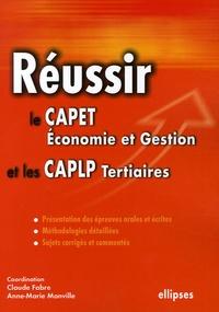 Accentsonline.fr Réussir le CAPET Economie et Gestion et les CAPLP Tertiaires Image