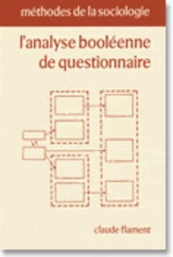 Claude Flament - L'analyse booléenne de questionnaire.