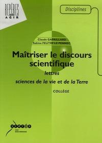 Deedr.fr Maîtriser le discours scientifique - Lettres et sciences de la vie et de la Terre collège Image