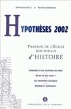 Claude Gauvard et Christophe Granger - Hypothèses 2002 - Travaux de l'Ecole doctorale d'histoire de l'Université Paris I Panthéon-Sorbonne.