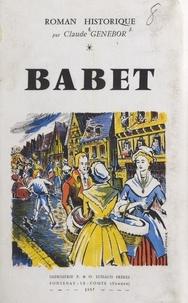 Claude Genebor et J. Moutet - Babet.