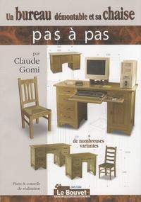 Claude Gomi - Un bureau démontable et sa chaise.