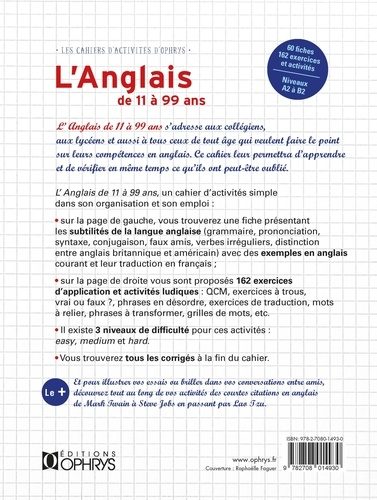 L Anglais De 11 A 99 Ans Claude Gosset Livres Furet Du Nord