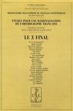 Claude Gruaz - Etudes pour une rationalisation de l'orthographe française - Tome 2, Le X final.