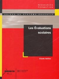 Claude Guillon - Les évaluations scolaires.