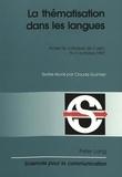 Claude Guimier - La thématisation dans les langues.