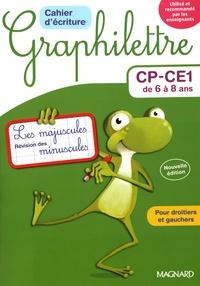 Claude Hebting - Cahier d'écriture CP-CE1 de 6 à 8 ans Graphilettre - Les majuscules et révision des minuscules, 4 exemplaires + 1 gratuit.