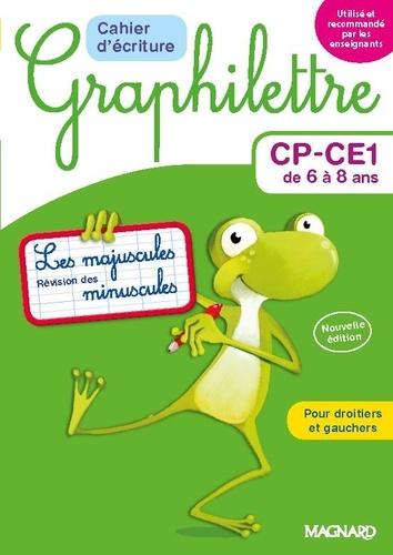 Cahier d'écriture Graphilettre CP-CE1 de 6 à 8 ans. Les majuscules et révision des minuscules  Edition 2017