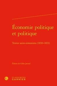 Accentsonline.fr Economie politique et politique - Textes saint-simoniens (1830-1831) Image