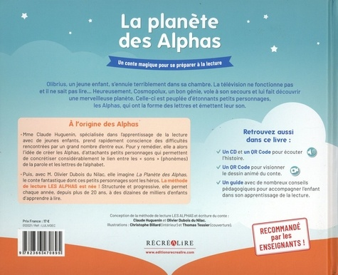 La Planète des Alphas. Un conte magique pour se préparer à la lecture. Avec 1 guide pédagogique complet  avec 1 CD audio
