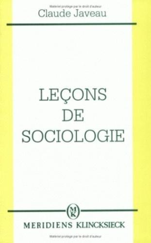 Claude Javeau - Leçons de sociologie.
