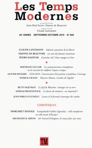 Claude Lanzmann et Pedro Kadivar - Les Temps Modernes N° 660, Septembre-oc : .