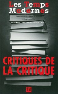 Claude Lanzmann - Les Temps Modernes N° 672, janvier-mars : Critiques de la critique.