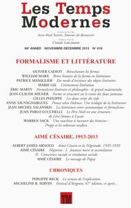Claude Lanzmann - Les Temps Modernes N° 676, novembre-déc : Formalisme et littérature.