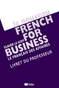 Deedr.fr Le nouveau french for business : le français des affaires. Livret du professeur Image