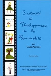 Claude Malandain - Scolarité et développement de la personnalité. - 2ème édition.