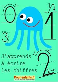 Claude Marc - Apprendre à écrire les chiffres en maternelle. Nombres de 0 à 9. - Cahier d'activités à imprimer. L'écriture des chiffres en maternelle. Modèles du tracé des chiffres. Nombres de 0 à 9..