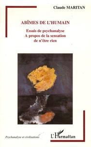 Abîmes de lhumain - Essais de psychanalyse A propos de la sensation de nêtre rien.pdf