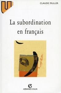 Claude Muller - La subordination en français - Le schème corrélatif.
