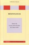 Claude-Noële Pickmann et Bernard Toboul - Résonnances - Autour de Lacan, lecteur de Joyce de Colette Soler.