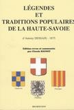 Claude Rignot - Légendes et traditions populaires de la Haute-Savoie - D'Antony Dessaix (1875).