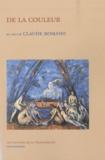Claude Romano - De la couleur - Un cours.