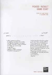 Claude Rutault et Alexandre Mare - Picasso-Rutault - Grand écart.