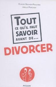 Claude Siguier-Poulhiès et Joëlle Porcher - Divorcer.