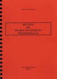 Recueil de fiches techniques prud'homales - Claude-Sylvain Bastard pdf epub