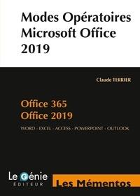 Claude Terrier - Modes opératoires Microsoft Office 2019 et Office 365.