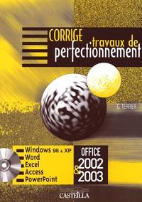 Claude Terrier - Travaux de perfectionnement Office 2002 & 2003 - Corrigé.