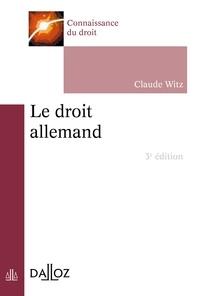 Claude Witz - Le droit allemand.