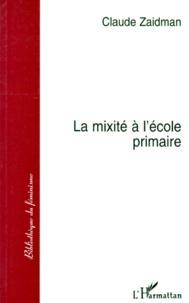 Claude Zaidman - La mixité à l'école primaire.