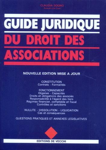 Claudia Sogno - Guide juridique du droit des associations.
