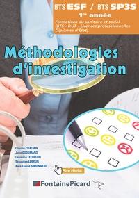 Claudie Chalmin et Julie Dodemand - Méthodologies d'investigation BTS ESF / BTS SP3S 1re année.