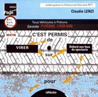 Claudie Lenzi - Poème urbain : tous véhicules & piétons - Disque de contrôle de questionnement Marseille.
