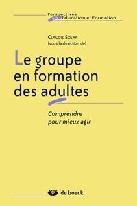 Claudie Solar - Le groupe en formation des adultes.
