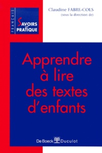 Claudine Fabre-Cols et  Collectif - .