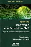 Claudine Gay et Bérangère Szostak - Innovation et créativité en PME - Volume 19, Enjeux, mutations et perspectives.