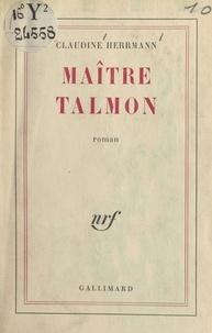 Claudine Herrmann - Maître Talmon.