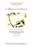 Claudine Raynaud et Peter Vernon - L'Allusion et l'Accès.