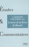 Claudio Majolino et François De Gandt - Lectures de la Krisis de Husserl.