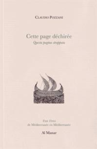 Claudio Pozzani - Cette page déchirée.