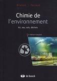 Claus Bliefert et Robert Perraud - Chimie de l'environnement - Air, eau, sols, déchets.