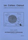 Clea - Les cahiers Clairaut Hors série N° 9, Oct : Mathématiques & astronomie.