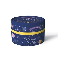 Clémence Brun et Yann Le Nénan - Bracelet étoilé - Avec 200 perles, 1 fil bleu nuit, 1 fermoir, 1 pompon bleu, 1 breloque dorée.