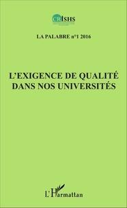 Clément Akpoué - La palabre N° 1/2016 : L'exigence de qualité dans nos universités.