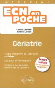 Clément Lebreton et Matthieu Leconte - Gériatrie.